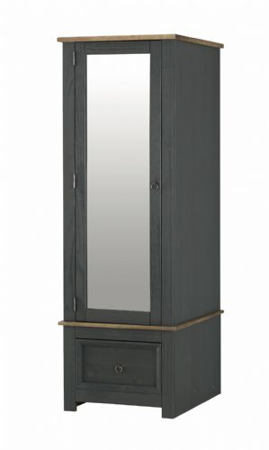 Corona Carbon Armoire With Mirrored Door